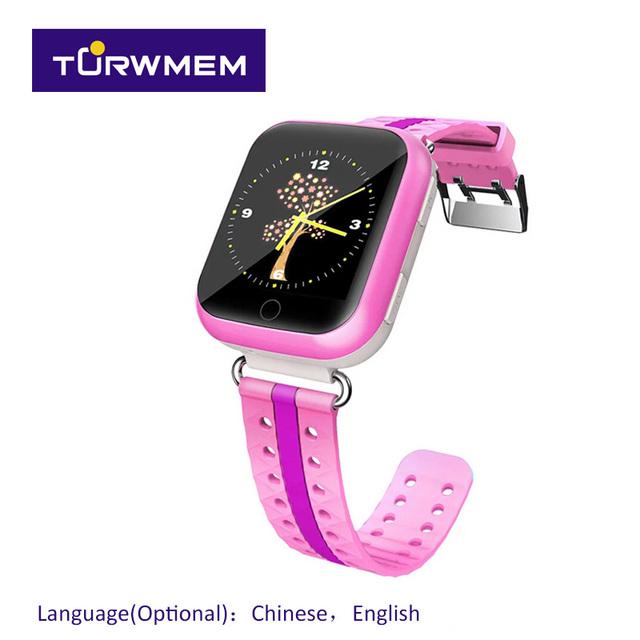 Touch screen wifi gps posicionamento crianças smart watch monitor de chamada sos localização para kid safe anti perdido bebê presente q750