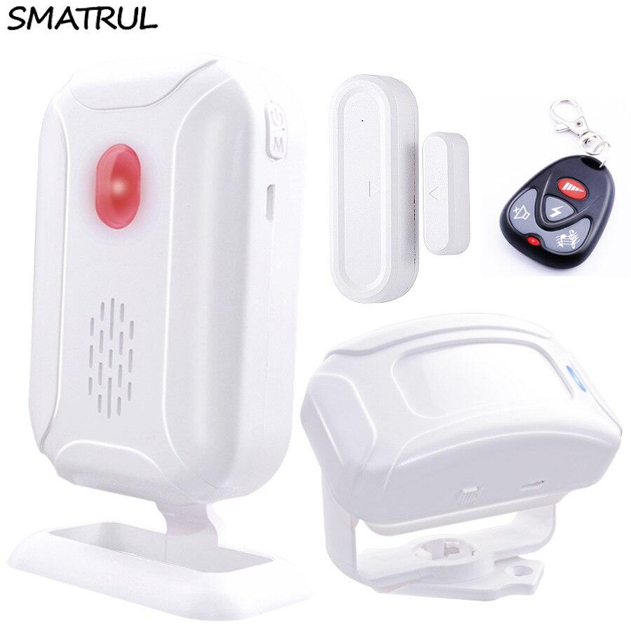 SMATRUL Drahtlose Türklingel Willkommen IR Infrarot motion sensor Alarm 280 mt palette hause shop Tür Glocke Magnetische Chime nacht licht deaf