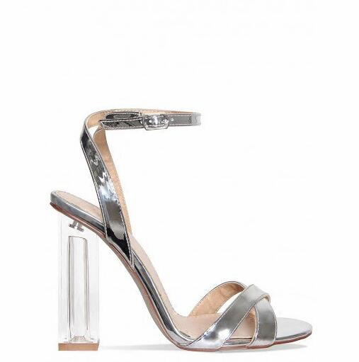 78ccb75a13a sandals femininas moda 2017 high heels women sandals fashion mixed colors  sandalias mujer buckle strap ladies shoes gold sliver -in High Heels from  Shoes on ...