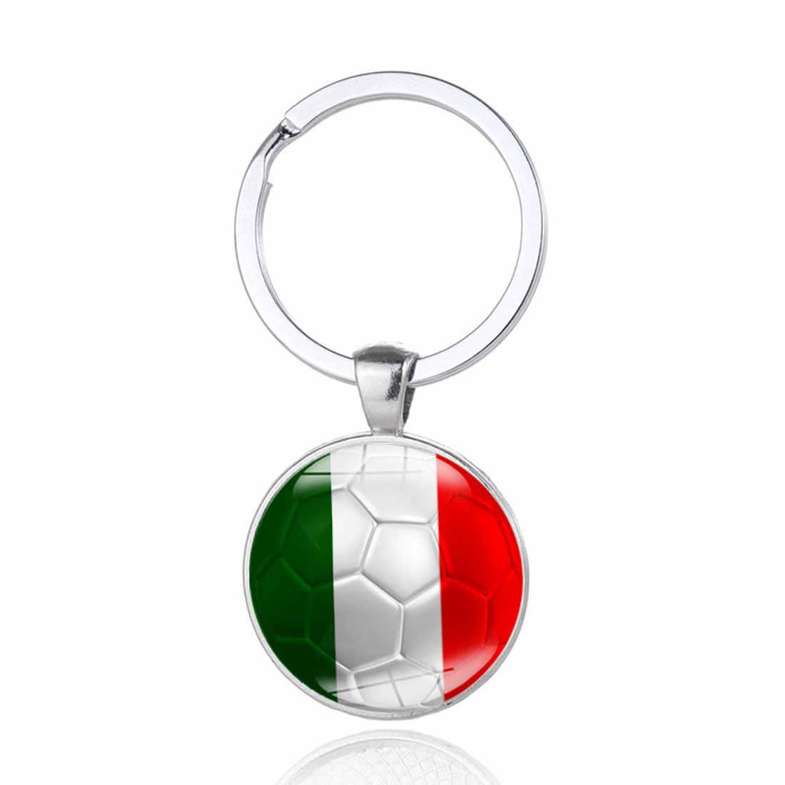 Llaveros de fútbol llaveros 32 países Peru Suecia Tunisia seneña llaveros recuerdo