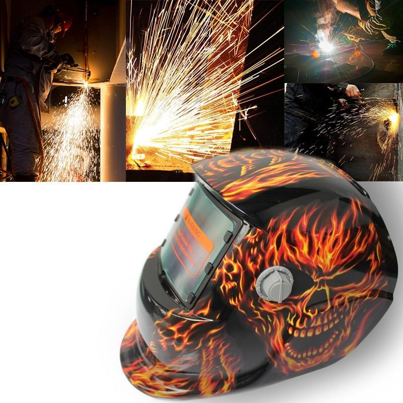 Preiswert Kaufen Thgs 2018 Neue Pro Solar Schweißer Maske Auto-verdunkelung Schweiß Helm Fiery Red Schädel