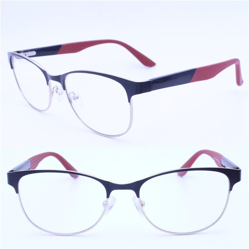 Herren-brillen Brillen Online Wanderer Form Halb-rim Metall Kombiniert Acetat Harte Silikon Tempel Trendy Flexi Optische Brillen