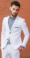 Latest coat pant Designs 2018 Men Suits for Wedding White Tuxedos Casual Men Suits Blazer Slim Fit boy Prom Suits Jacket Pants
