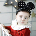 2pcs cheap Dots Ear Cute head hair band Minnie accessories Girls baby new born headwear hairwear headband infant elastic