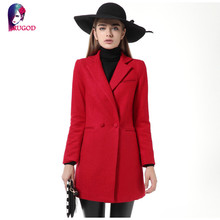 Winter Fashion Ladies Woolen Coat and Jacket Temperament Double Breasted Overcoat Winter Coats Long Outerwear for Women