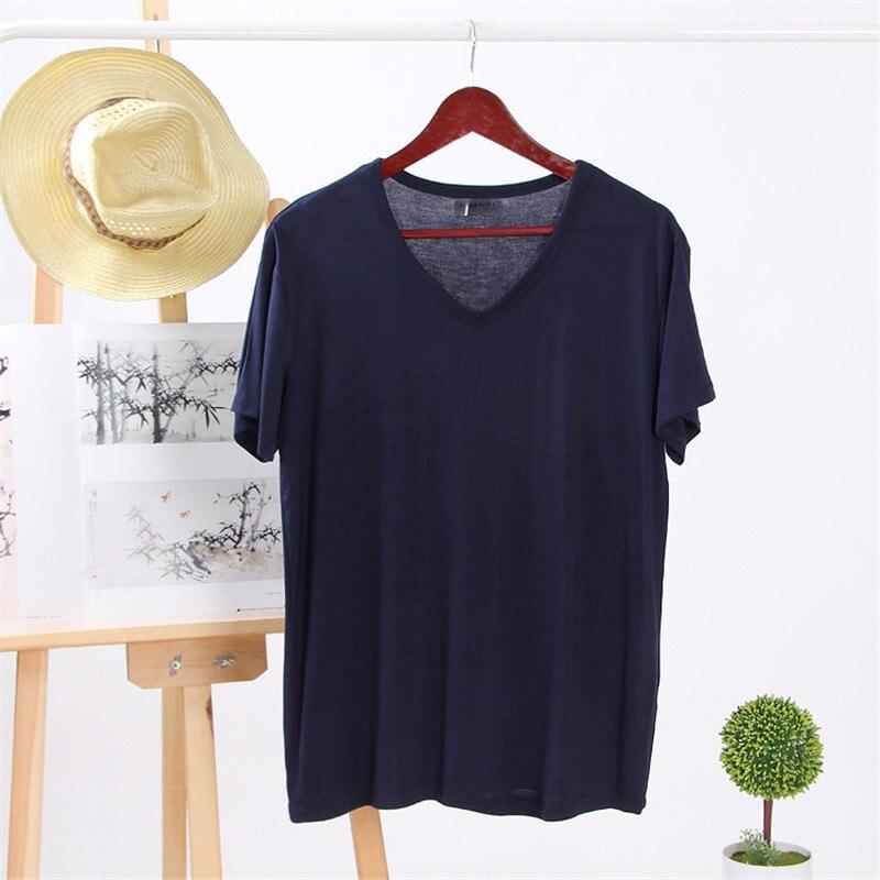 D'été de 2019 hommes à manches courtes t-shirt version Coréenne de la tendance moitié corps mince à manches chemise d'été hommes de T-