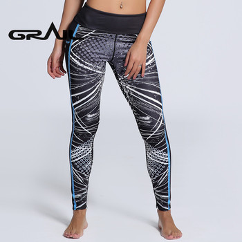 Women Sport Fitness Leggings Pattern Black Yoga Pants Spring Workout Pants New Arrival 3D Digital Print Pencil Trouser YOGA-0119 1