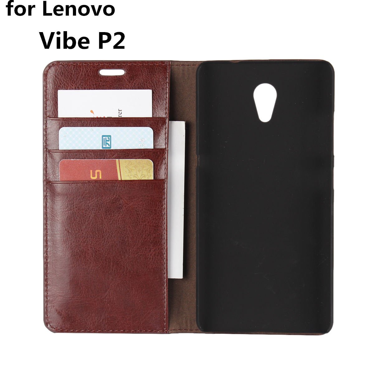 Deluxe Wallet Case For Lenovo Vibe <font><b>P2</b></font> P2C72 premium leather Case Flip Cover Phone Bags