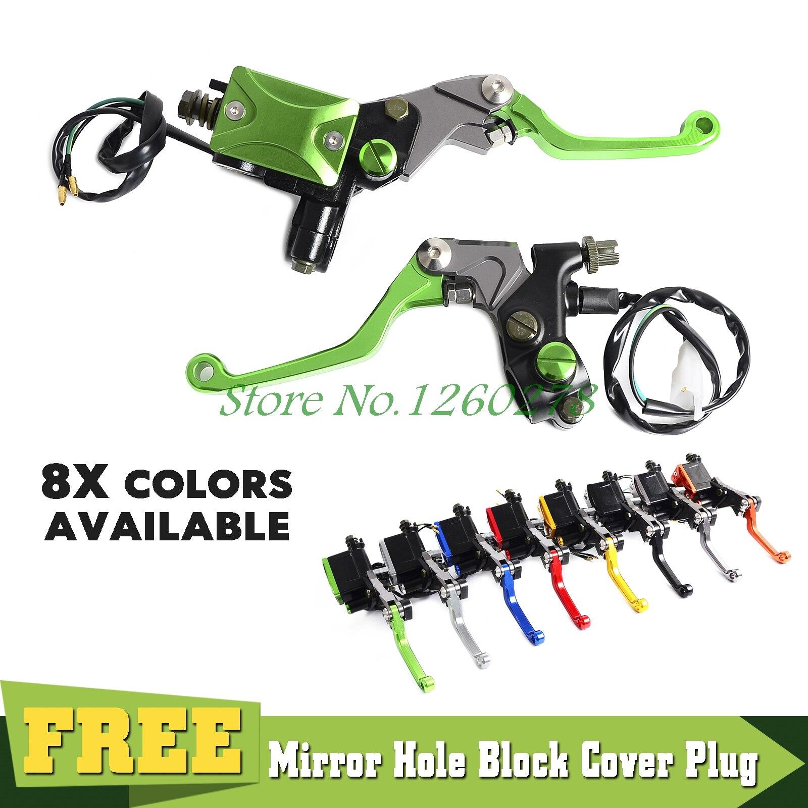 Universal Clutch Brake Master Cylinder Kit Reservoir Levers Set For Kawasaki KX65 KX85 KX125/250 KLX125 250 450 NINJA 250R 300R
