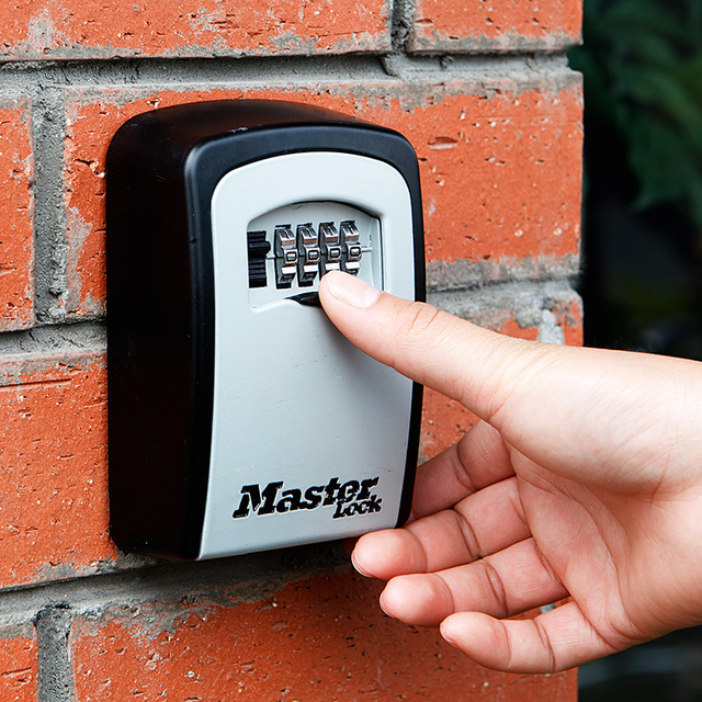 Key Safe Box Wall Mount Combination Password Lock Metal Alloy Home Office Factory Outdoor Keys Storage Box Security Safes 5403D