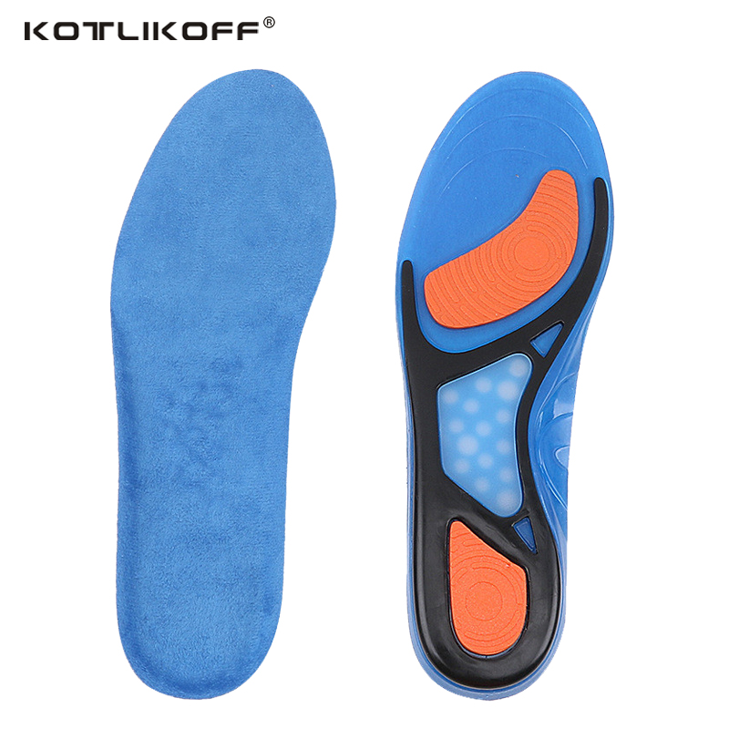 KOTLIKOFF Gel Insoles Breathable Comfortable Silicone Inserts Deodorant shock absorption shoe Insoles Foot Pain Relieve Cushions expfoot orthotic arch support shoe pad orthopedic insoles pu insoles for shoes breathable foot pads massage sport insole 045