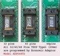 Todos TSOP 32/40/48 adaptador Tipo-1 (20mm Pin-Pin Comprimento) Modelo 548T2 para TNM5000 NAND programador