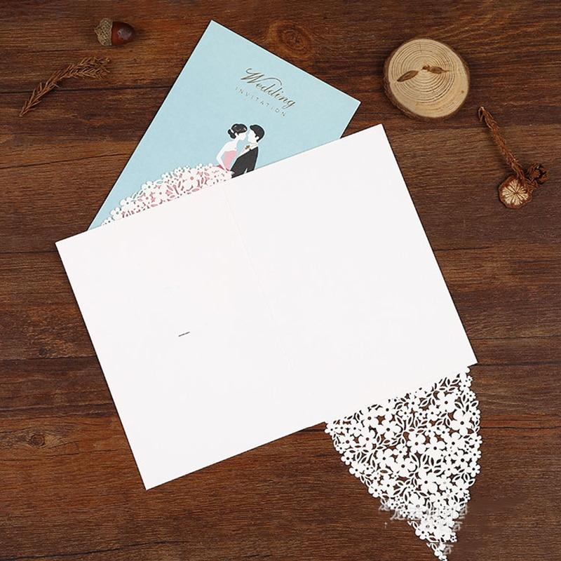 1pcs Sample Laser Cut Bride And Groom Wedding Invitations Card