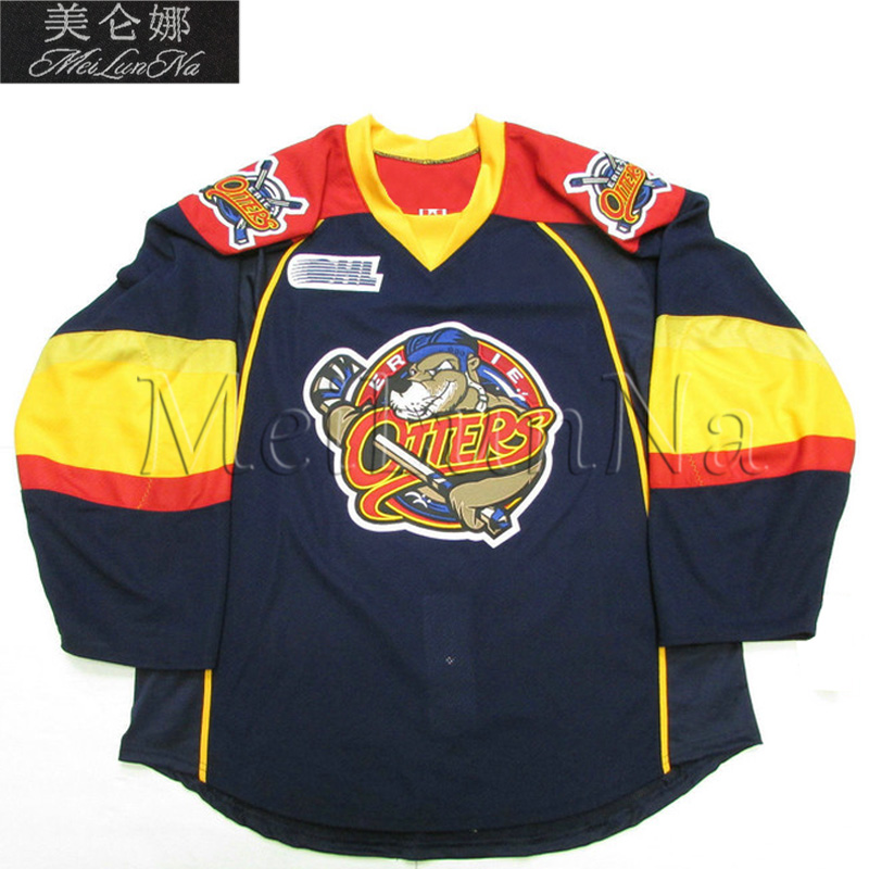 MeiLunNa Customize OHL Erie Otters 97 Connor McDavid Jerseys 28 Connor Brown 12 Alex DeBrincat Home Road Sewn On Any Name NO.