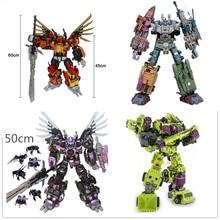 [New] JinBaos Action figure G1 MMC Predaking Feral Rex Predacons 6IN1 Oversize Upgrade Edition Action Figure Robot Toy цена