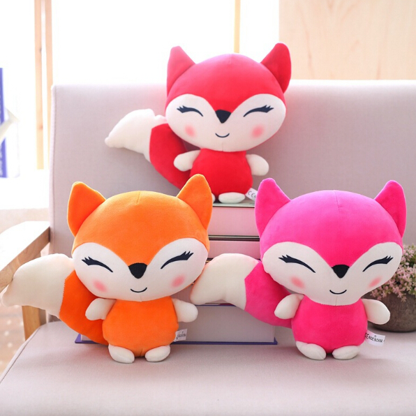 23cm Kawaii Dolls Fox Plush Stuffed Animals Toys for Girls Children Boys Toys Plush Pillow Foxes Stuffed Soft Toy Doll(China)