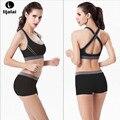 Lijalai New Running Shorts With Sports Bra Yoga Clothing Suits Set Fitness Clothing Vest Tracksuit Set Sportswear Workout Set