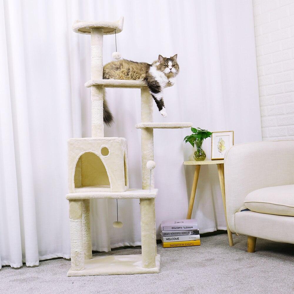 Rapid Pet chaise bois animaux meubles Cube robuste maison Condo maison chaude avec échelle chat escalade chaton amusant jouet arbre à chat - 6