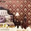 Wine Red Wallpaper European Non Woven Living Room Bedroom TV Backdrop Home Decoration Tooling Diamond Deep