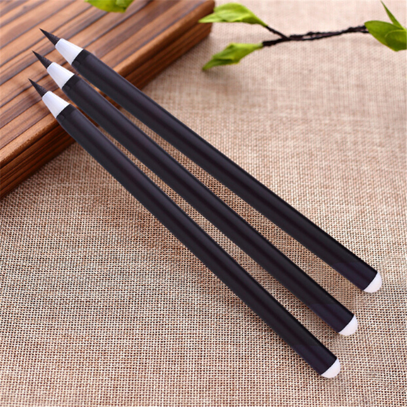 1Pcs Chinese Calligraphic Pen Drawing Art Pen Calligraphy Brush Pen For Signature Material Escolar Stationery School Supplies