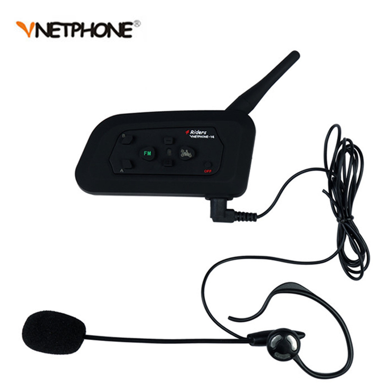2pcs/lot V4C Football Referee Intercom Full Deplux Bluetooth Helmet Intercom Motorcycle BT Interphone Headset Earphone