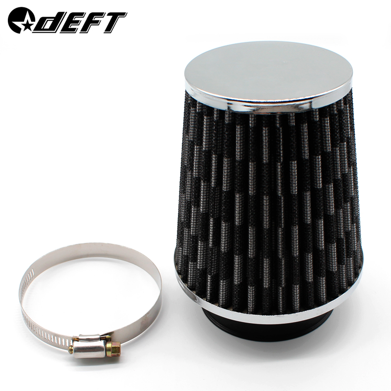 Red 3inch 75mm Car Air Filter Clean Intake High Flow Short RAM COLD Round Cone