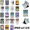 New Top Quality Flower Animal Cartoon Card Slot Pu Leather Case For Ipad Air 2 Ipad