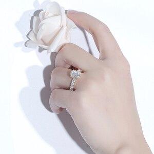 Image 5 - TransGems 高級 18 18K イエローゴールド 2ct 9*7 ミリメートル優れたオーバルカット F 色モアッサナイトの婚約指輪女性と永遠バンド