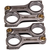 136.3mm Steel Connecting Rods for Nissan Silvia 200SX SR20 SR20DET S13 S14 S15 Conrods H Beam Forged 4340 +ARP Bolts Shot Peened
