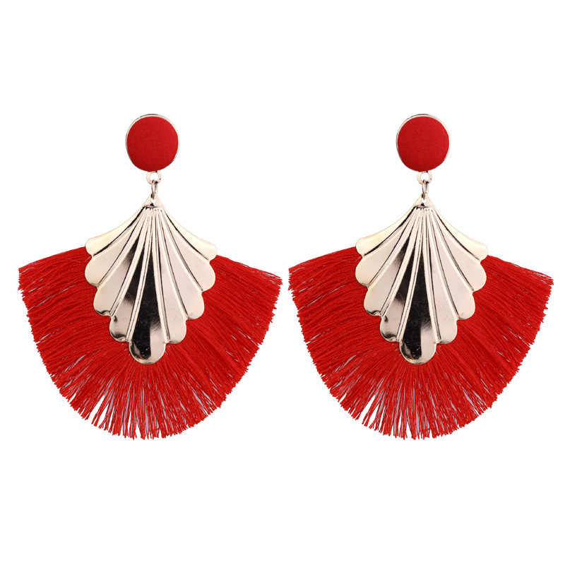 Vintage Boho Long Tassel Earrings for Women Big Tassel Charm Statement Earrings Bohemian Ethnic Earings Fashion Jewelry 2019