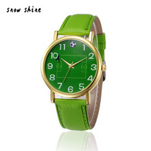 snowshine 10xin Retro Design Leather Band Analog Alloy Quartz Wrist Watch free shipping