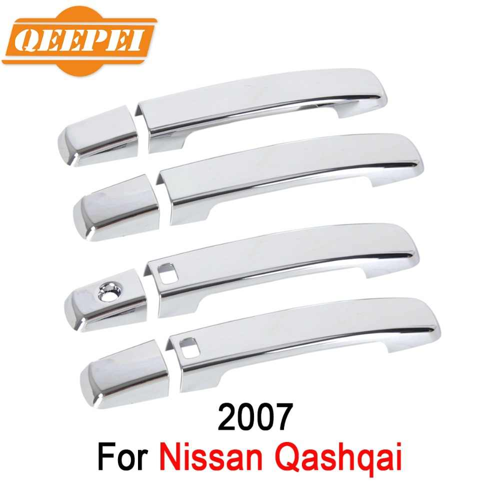 QEEPEI 8PCS New Car Door Handle Cover Outsides For Nissan Qashqai 2007 High Quantity Car Auto Accessories QDC005