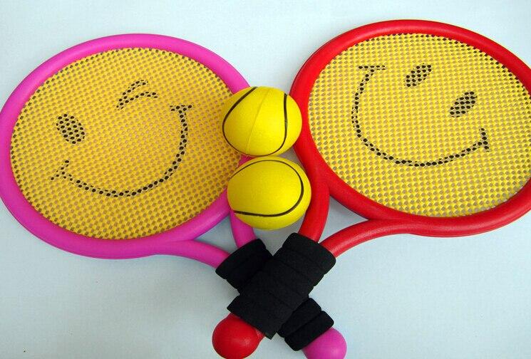 (2 ракетки и 2 мяча) Безопасность детей Детский теннис игрушки безделушка Спорт на открытом воздухе играть в игры ...