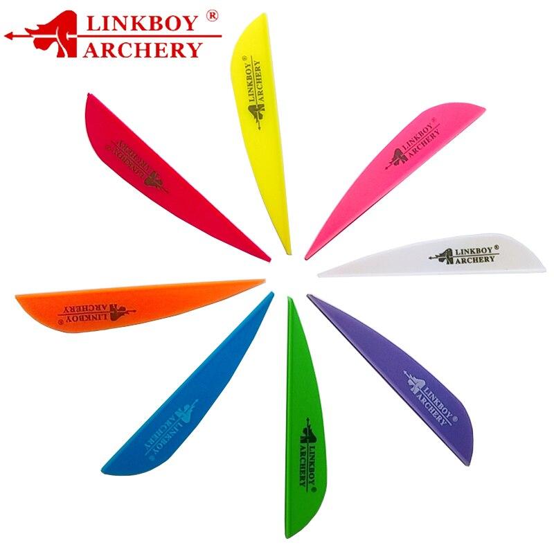 Linkboy Bogenschießen 36 stücke Pfeil Vanes 3 Zoll Kunststoff Befiederung Feder für ID 6,2mm Welle Verbindung Bogen Jagd und schießen