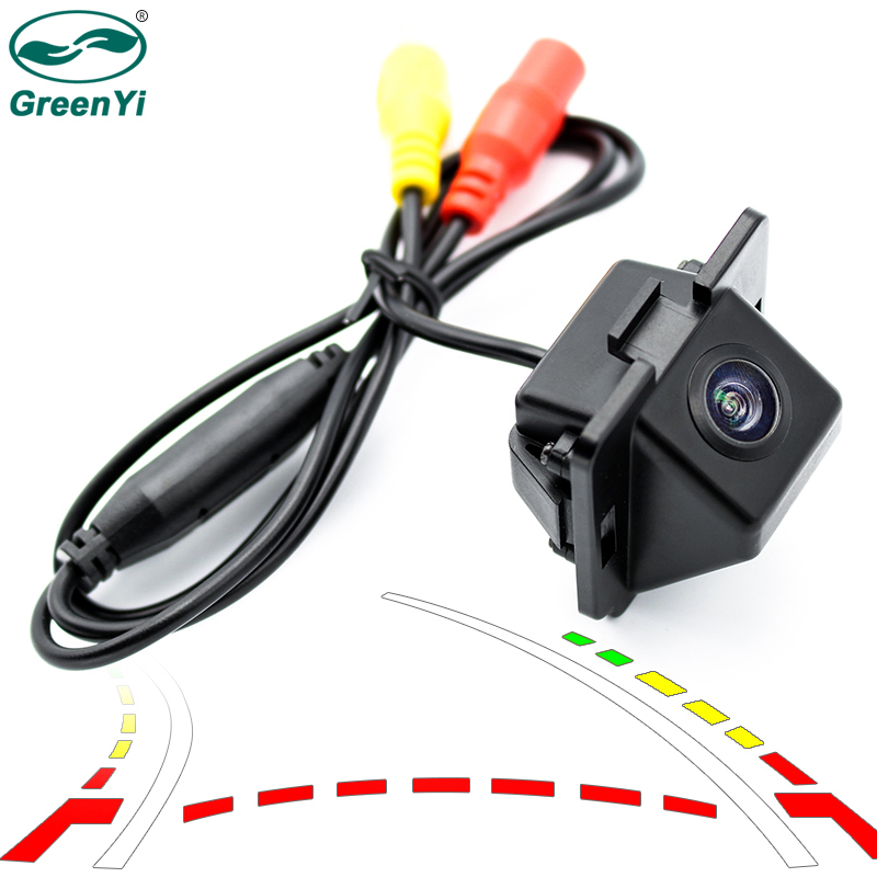 GreenYi Intelligent Dynamic Trajectory Tracks Parking Line Reverse Rearview Parking Camera For Mitsubishi Outlander 2007-2015 0