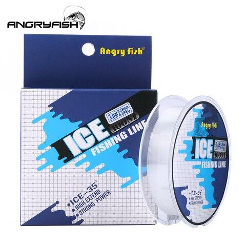 angryfish hot linha de pesca no gelo 100 m monofilamento de nylon linha de pesca