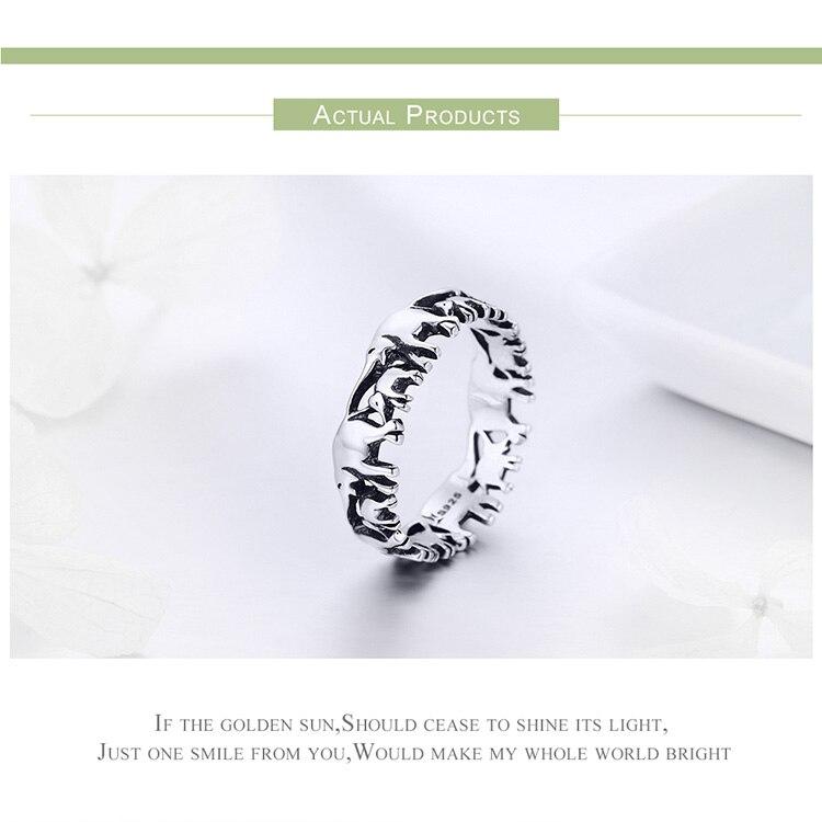 HTB1d4dzr1OSBuNjy0Fdq6zDnVXa6 BISAER Original 2019 925 Sterling Silver Vintage Ethnic elephant Animal Stackable Women Finger Rings Vintage Silver Bague GXR344