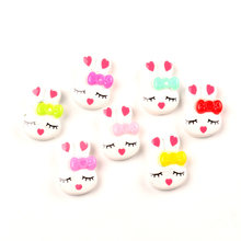 LF 50Pcs Resin Rabbit Mixed Decoration Crafts Flatback Cabochon Embellishments For Scrapbooking Kawaii Cute Diy Accessories(China)