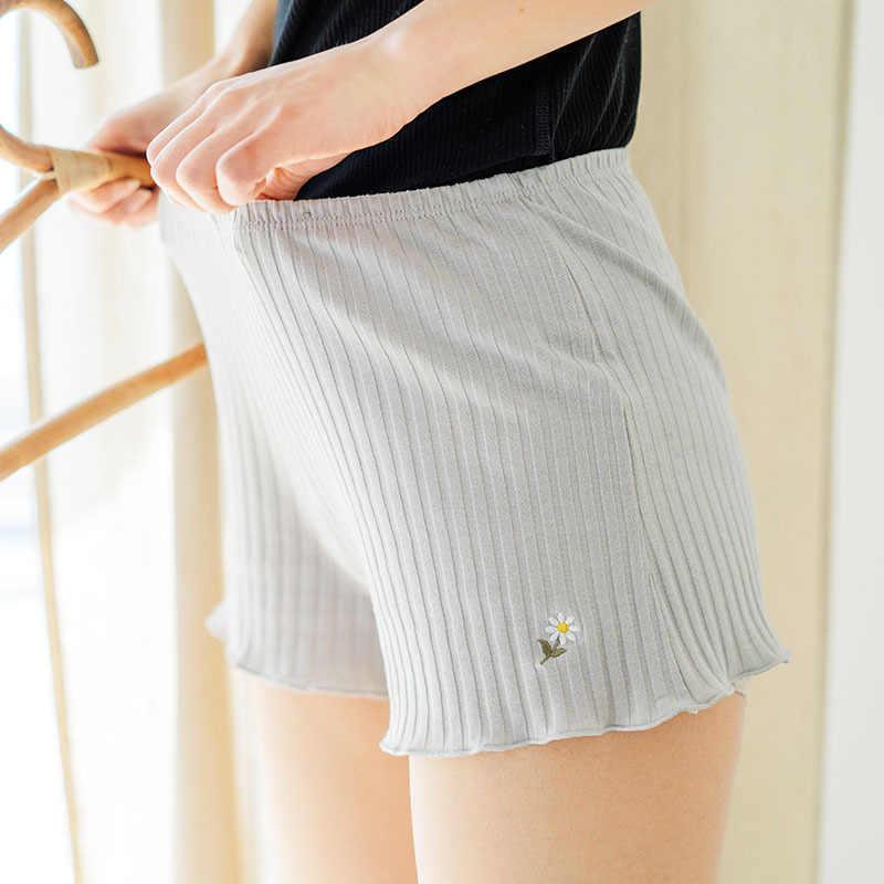 1 sztuk kobiety nowa wiosna bawełna domu szorty bokserki bielizna damska kobiet bezpieczeństwa seksowne krótkie spodnie letnie ubrania Shorty Femme