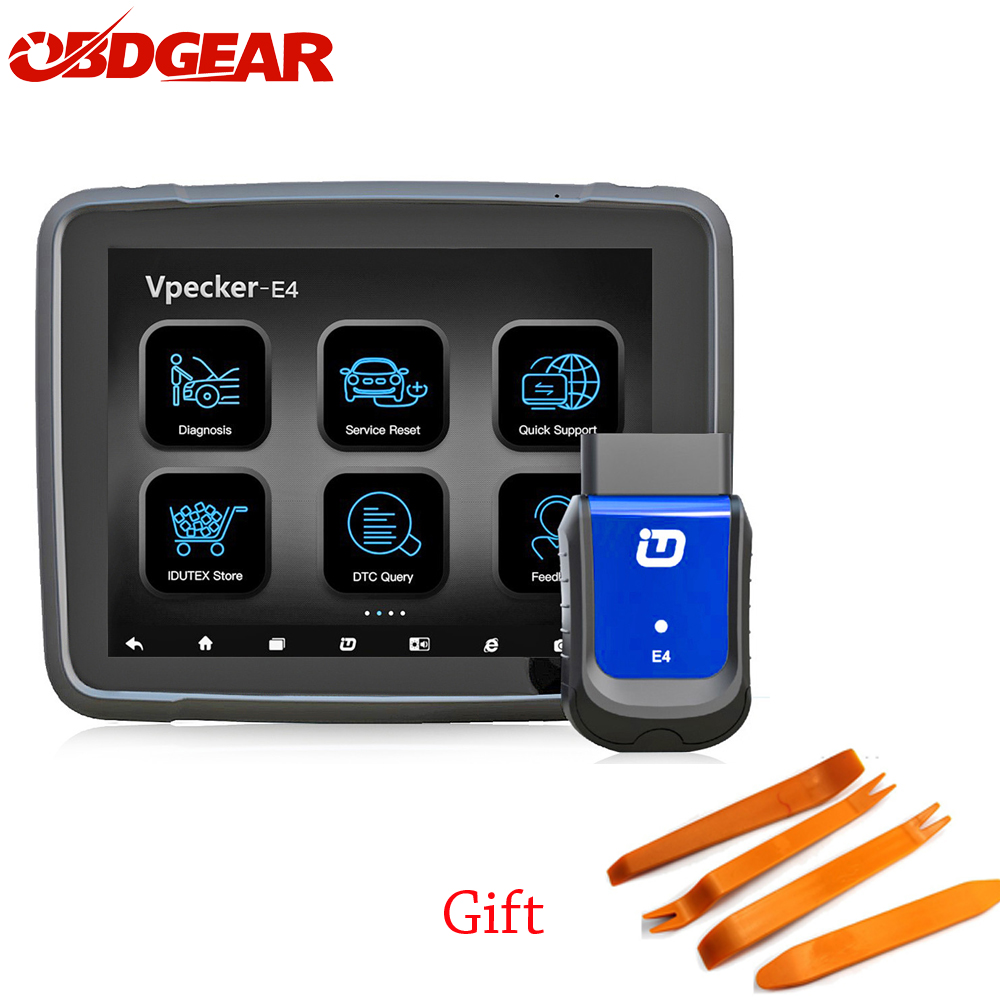 Vpecker EasyDiag E4 tablet diagnostic tool Xtuner OBDII Scan Tool Vpecker Full System for Andorid TPMS Scanner Multi-language