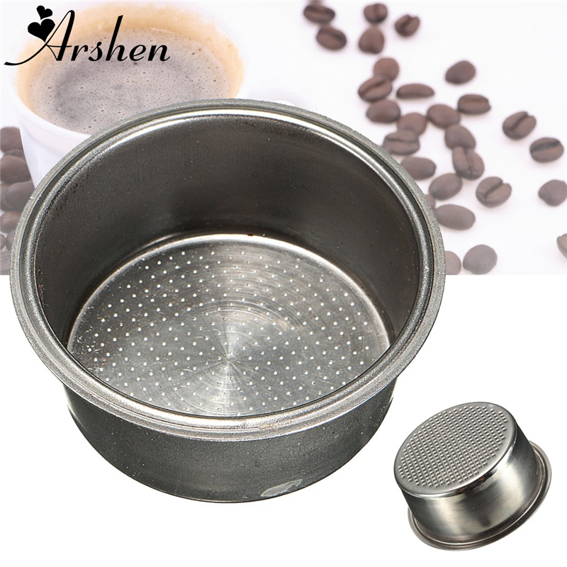 Arshen Hot Sale Coffee Tea Filter Basket Silver Stainless Steel Coffee Machine 2 Cup Capacity 51mm Non Pressurized Filter Basket