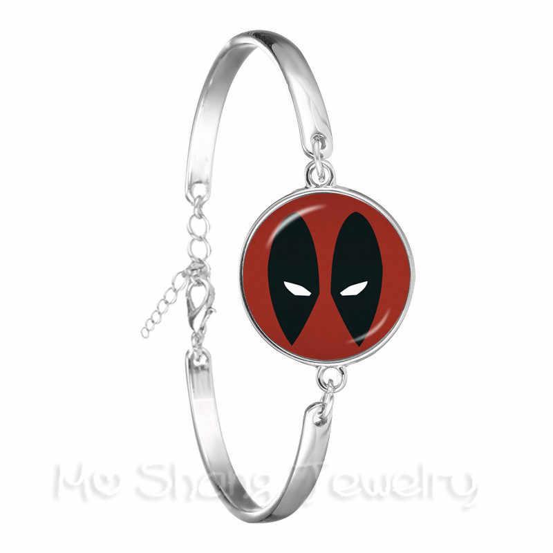 1 PCS Deadpool צמיד 18mm העגול זכוכית כיפת קלאסי דמויות מצוירות צמיד אישית מתנה עבור מאהב קריקטורה