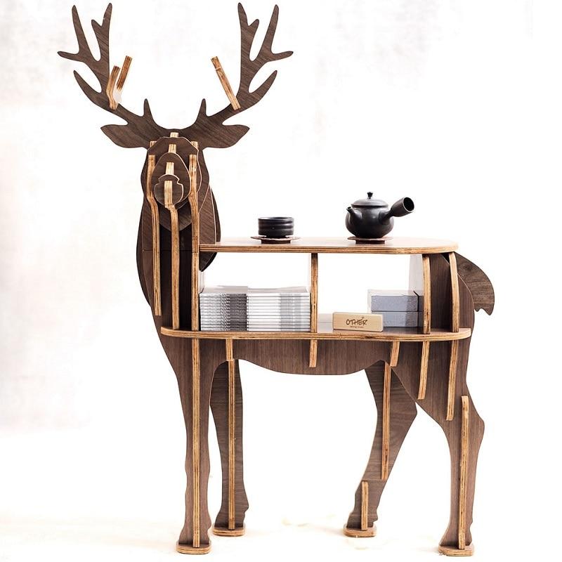 Nouveau! haut de gamme S taille lookback rennes table En Bois meubles de maison! auto-construire puzzle meubles