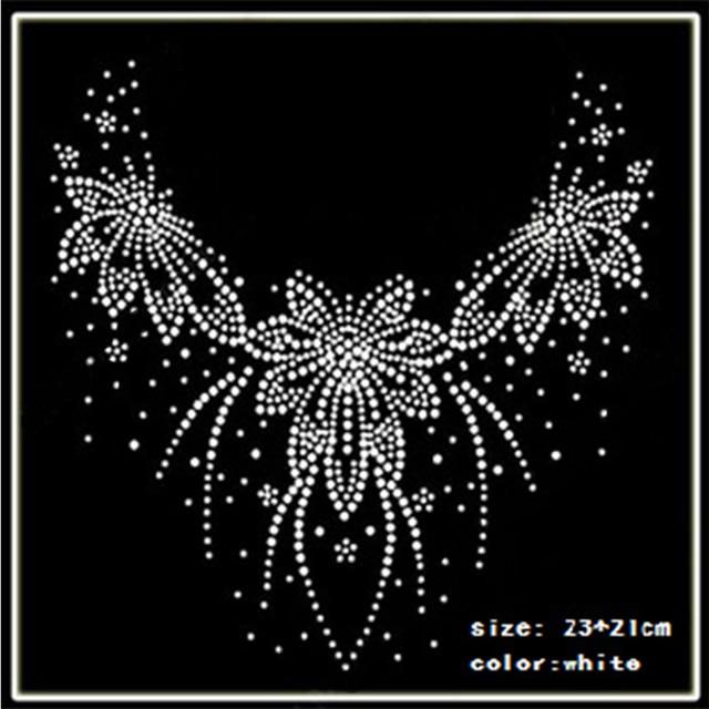 2018 Hot Fix Rhinestones motif Heat Transfer on Design Iron On clothes T  Shirt Shoes Bags dancing dress 8f231f706716