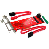SATA 15Pin Power 2 SATA Connect Motherboard PCIE to M2 Adapter PCIE X4 to 1Port M Key NVMe M.2 + 2Port B Key NGFF M.2 Riser Card