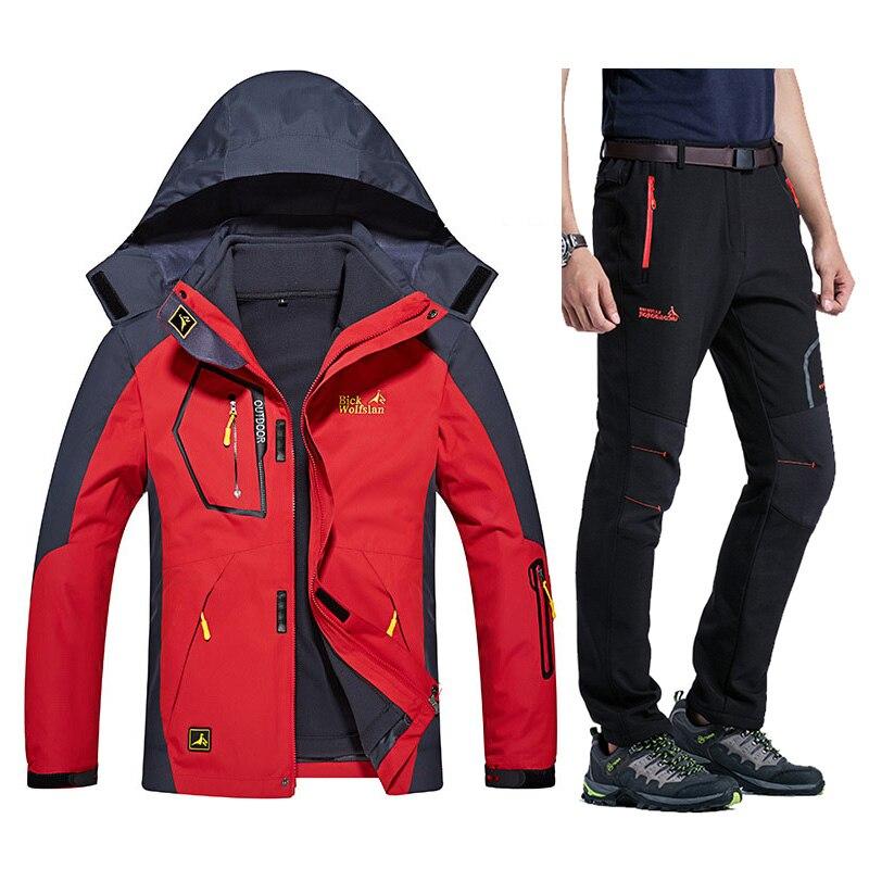 Hiver Chaud Ski costumes Hommes Étanche Polaire Vestes De Neige Thermique Manteau En Plein Air Montagne Snowboard Ski Veste Pantalon Hommes Vêtements