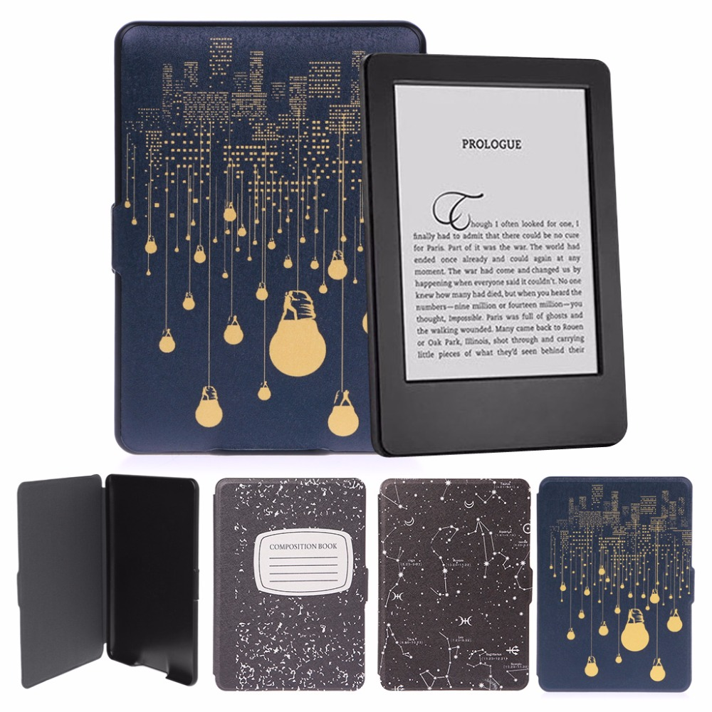 Amazon Libros Para Kindle Slim Faux Leather Folio Flip Case Protective Shell Skin Cover Auto