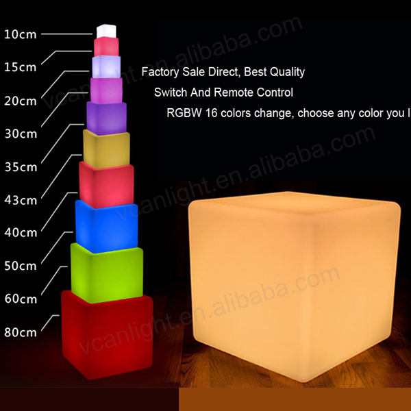 Apprehensive 30*30cm Led Immulinated Furniture Outdoor Garden Waterproof Light Led Cube Chair Seat