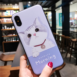 for iPhone 7 Case 3D Cartoon Cat Ear Capinha Case iphone 6Plus Silicone Soft TPU for iPhone x 6 7 8 plus 1
