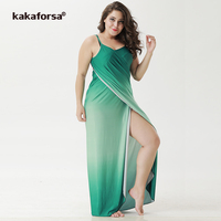 Kakaforsa 2018 Multifunctional Summer Beach Cover Up Sexy Halter Robe Plage Pareos Backless Large Size Long